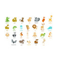 Cute animal icons set