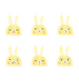 cute bunnies with different vector image vector image