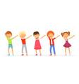 dabbing kids dancing and posing school teenager vector image