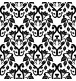 damask black and white seamless pattern white vector image vector image