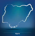 Doodle Map of Nigeria vector image vector image