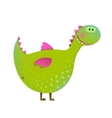 Dragon childish fun cute cartoon vector image