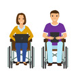 electronic learning disability people man and vector image