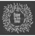 Enjoy the little things typography poster vector image vector image