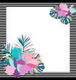 exotic tropical border frame template vector image vector image