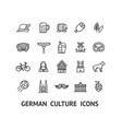 german culture sign black thin line icon set vector image