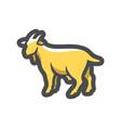 goat dairy farm animal icon cartoon vector image
