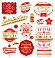 Guaranteed and premium quality - labels vector image vector image