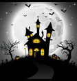 halloween background with scary church vector image vector image