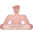 healthy athletic person vector image vector image