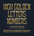high golden letters numbers dollar and euro vector image vector image