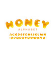 honey alphabet amber bubble uppercase vector image vector image