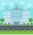 hospital building outside medical center flat vector image