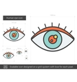 Human eye line icon vector image