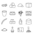 isolated object natural and production icon vector image vector image