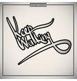 Keep walking greetings hand lettering set vector image
