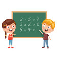 kids having math lesson vector image vector image