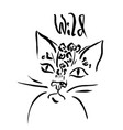 leopard print of wild cat head vector image