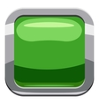 Light green square button icon cartoon style vector image