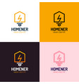 lighting bulb shaped smart home sign icon smart vector image