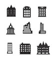 line buildings icons city building hotel and vector image vector image