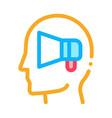 loudspeaker head icon outline vector image vector image
