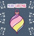 merry christmas celebration colored ball snow vector image