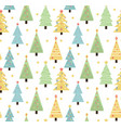 merry christmas seamless pattern cute christmas vector image vector image