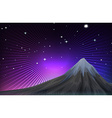 Nature scene with mounatain at night vector image vector image