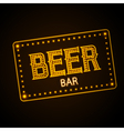 Neon sign Beer bar vector image vector image