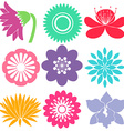 Nine floral templates vector image vector image