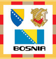 official government ensigns of bosnia vector image vector image
