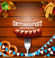 Oktoberfest banner with typography