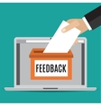 Online feedback concept vector image