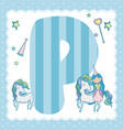 p alphabet letter for kids vector image vector image