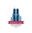 patriot day september 11 2001 national day vector image vector image