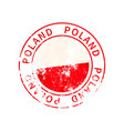 poland sign vintage grunge imprint with flag on vector image
