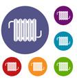 radiator icons set vector image vector image
