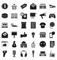 retail icons set simple style vector image vector image
