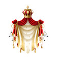 royal baldachin with crown fringe fur vector image vector image