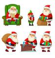 santa claus and elf vector image