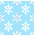 seamless snowflake pattern winter background vector image vector image