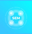 sem search engine marketing web analytics vector image