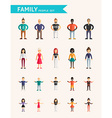Set of Flat Design Family People Parents and vector image vector image