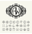 Set to create monograms vector image vector image