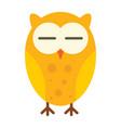 sleeping owl in flat style vector image vector image