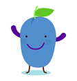 smile plum icon flat style vector image