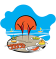 Spanish food vector image