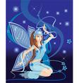 Sparkling Blue Elf Cartoon vector image vector image