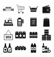 Supermarket icons set simple style vector image vector image